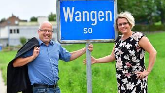 Gemeindepräsidenten-Wahl 2017 Wangen bei Olten: Um das Amt buhlen Patrick Schmid von der CVP und Daria Hof-Schwarzentruber(FDP)