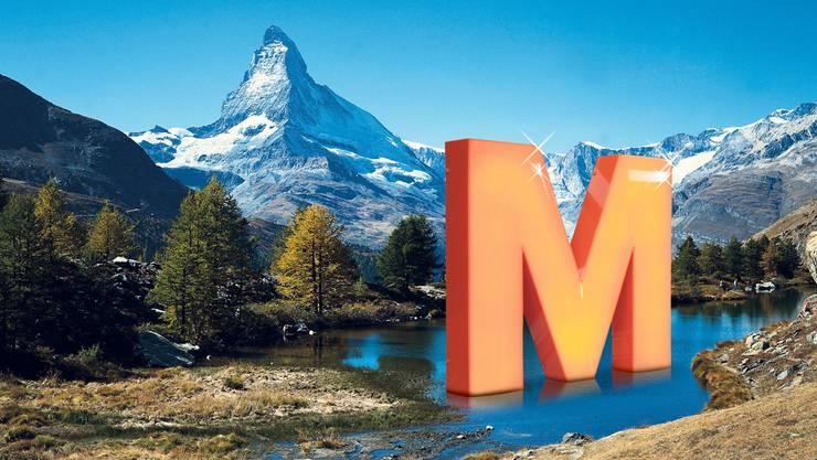 Schweizer Unternehmen prägen die helvetische Markenlandschaft: Am beliebtesten ist im Matterhorn-Land der Grossverteiler Migros.ST/swiss-image
