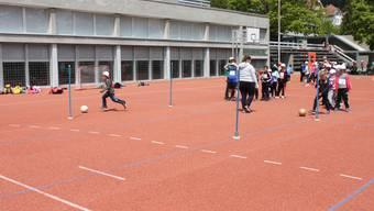 Schulsporttag 2019 im Haldenschulhaus Grenchen
