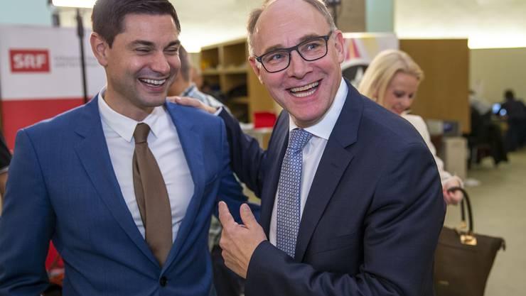 Erreichten das beste Wahlergebnis: die gewählten SVP-Nationalräte Benjamin Giezendanner (links) und Hansjörg Knecht