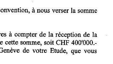 Deutlich zu sehen: Xamax und Isenegger einigen sich schriftlich auf die Zahlung von 400000 Franken