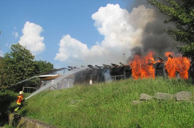 Der Kindergarten ist vollständig ausgebrannt.