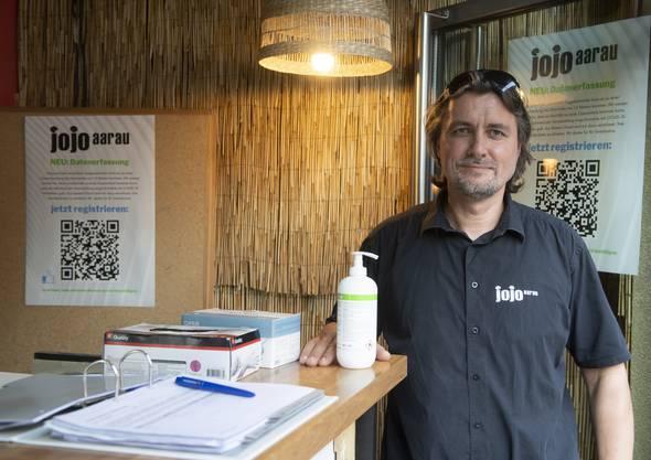 Peter Locher, Betreiber der Jojo-Bar.