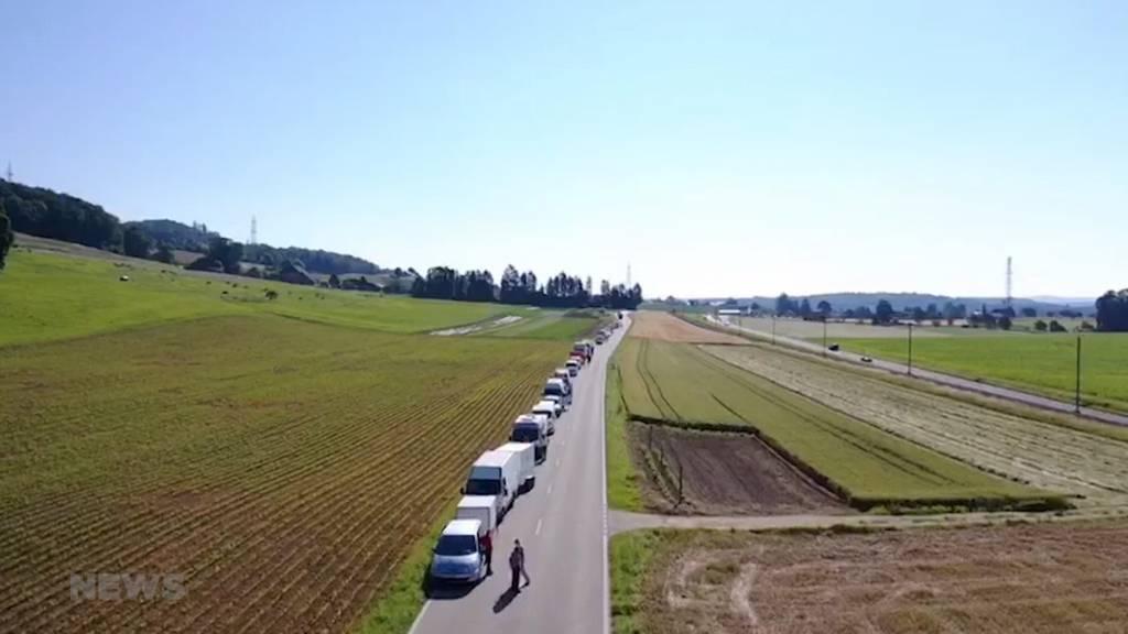Protest-Konvoi: Marktfahrer wollen wieder arbeiten