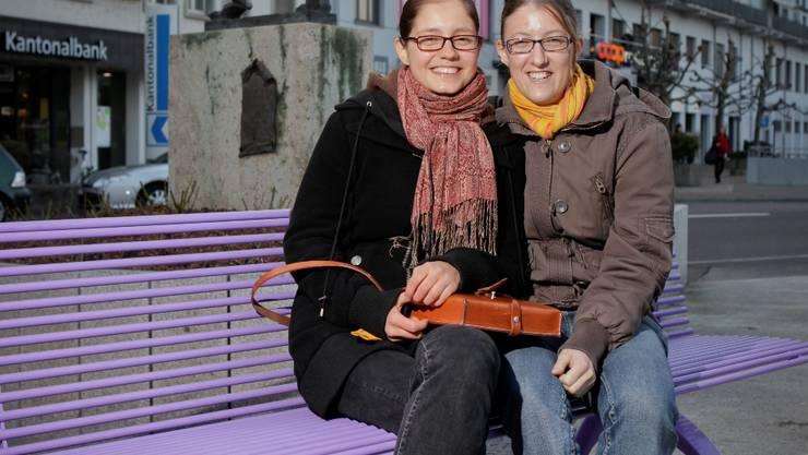 Jeannine Wilhelm (links) und Astrid Schwender. Peter Siegrist