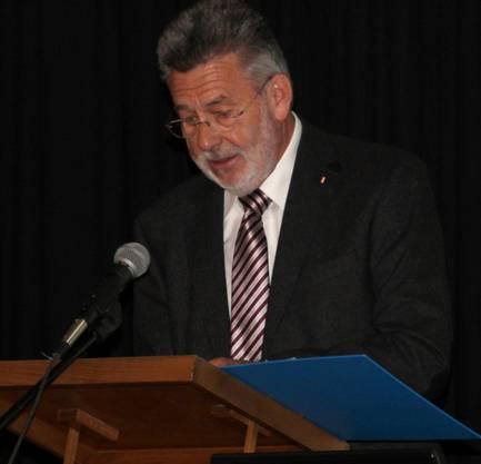 Präsident Othmar Huber bei der Begrüssung