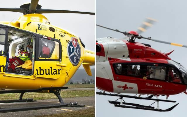 2013 fiel im Aargau das Monopol der Rega, seither fliegen auch TCS-Helikopter bei Notfällen.