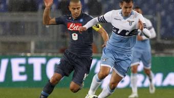 Gökhan Inler (links) hatte letztmals im Trikot von Napoli eine Meisterschaftspartie über 90 Minuten bestritten