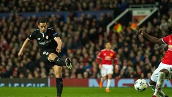 Wissam Ben Yedder traf zwei Minuten nach seiner Einwechslung zum 1:0 für den FC Sevilla im Old Trafford