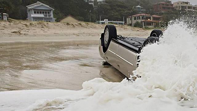 Folge der heftigen Stürme in Australien