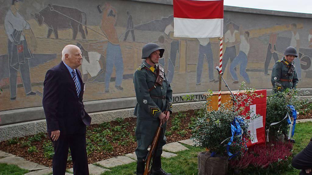 Soldatendenkmal aus dem Zweiten Weltkrieg restauriert