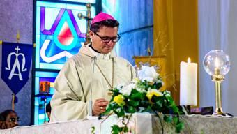Am 3. Juni wird Bischof Felix Gmür den neuen Pastoralraum Olten errichten (im Bild bei der Errichtung des Pastoralraums Mittlerer Leberberg Ende September 2016).