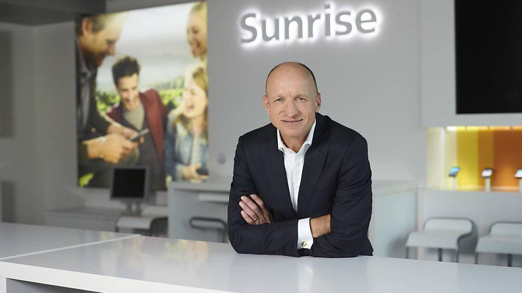 Sunrise-Chef Olaf Swantee kann sich über überraschend viel Reingewinn im vergangenen Jahr freuen. (Archiv)