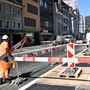 Baustelle Baslerstrasse in Olten