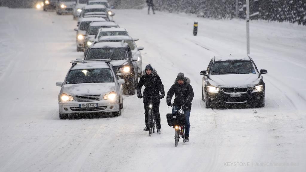 Schnee überrascht den Aargau