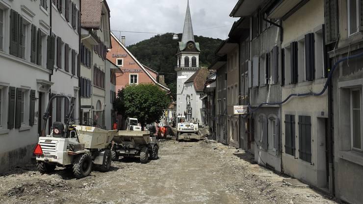 Zwar ist Waldenburg keine physische Grossbaustelle mehr wie hier 2013, doch finanziell gibt es noch viele Löcher zu stopfen.