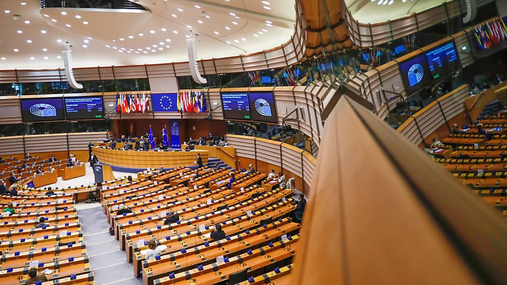Abgeordnete während einer Plenarsitzung im Europäischen Parlament in Brüssel.