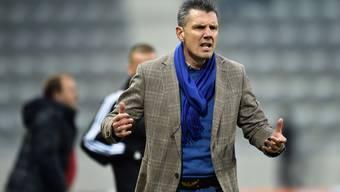 Sehr engagiert: Biels Trainer Petar Alexandrov.