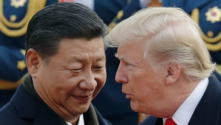 Chinas Präsident Xi Jinping und US-Präsident Donald Trump. (Archivbild)