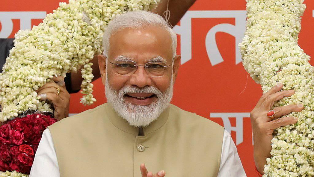 Der alte und wohl auch neue Ministerpräsident: Narendra Modi.
