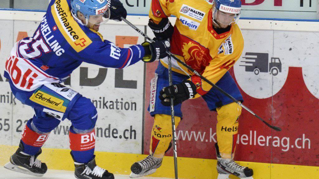 Dübendorf (rechts mit Adrian Stoob) empfängt in den Cup-Achtelfinals den EHC Visp