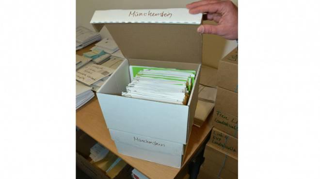 Originaldaten der Landratswahlen sind im Regierungsgebäude. Foto: Nicole Nars-Zimmer