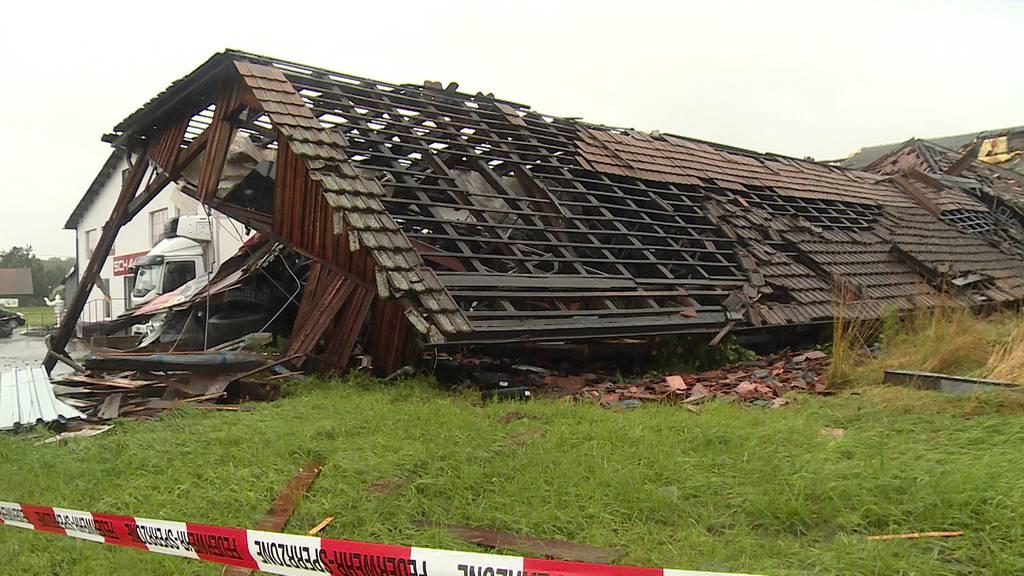 Gebäude in Rümlang (ZH) eingestürzt