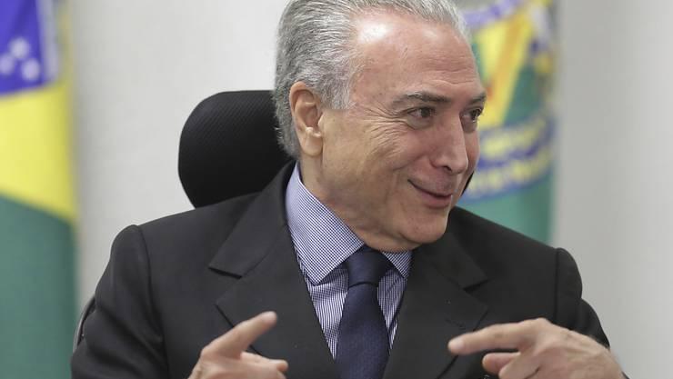 Einer geht, einer kommt: Brasiliens Präsident Michel Temer hat mitten im Korruptionsskandal den Justizminister ausgewechselt. (Archivbild)