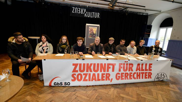 Das aus vielen Organisationen zusammengesetzte Solothurner 1.-Mai-Komitee präsentierte seine Forderungen.