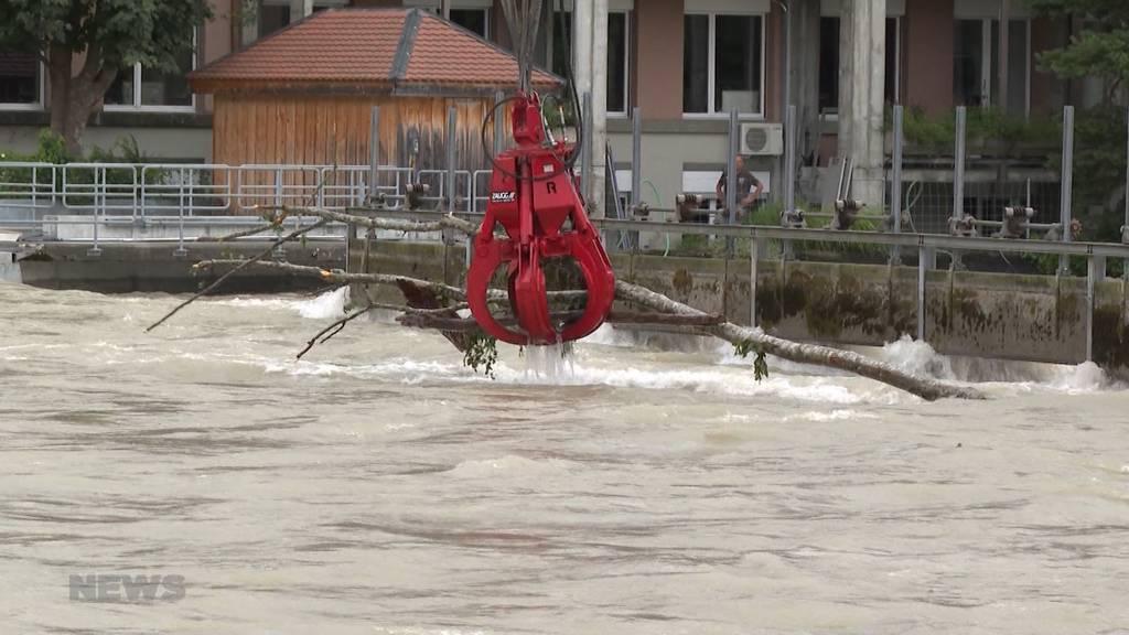 Wasserpegel der Aare in der Matte steigt deutlich an: Schon über 500 Kubikmeter pro Sekunde