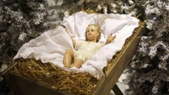 Jesus in der Futterkrippe.