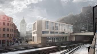 Visualisierung des Siegerprojekts «Janus» des Teams BDE Architekten Winterthur.