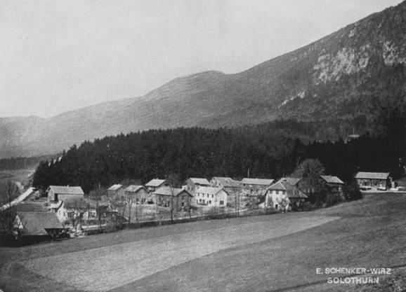 Beim Südportal des Weissensteintunnels wurde extra ein «Italienerdorf» errichtet.