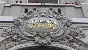 Am Eingang zur Schweizerischen Nationalbank in Bern (Archiv)