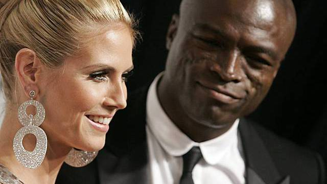 Model Heidi Klum mit Gatte Seal