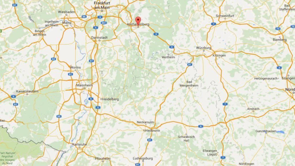 Im deutschen Aschaffenburg unweit von Frankfurt geraten Türken und Kurden aneinander. (Bild: googlemaps)