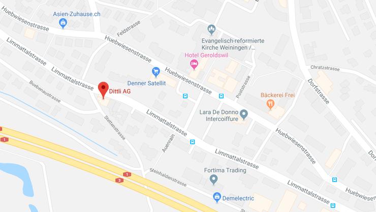 Unzugänglich sind während der Vollsperrung auch die Coop- und Shell- tankstellen bei der Dittli AG an der Limmattalstrasse 65 in Geroldswil.