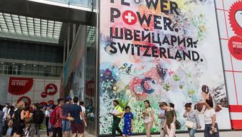 "Der Schweizer Pavillon unter dem Namen ""Flower Power"" an der Weltausstellung in Astana öffnet am 10. Juni seine Tore."