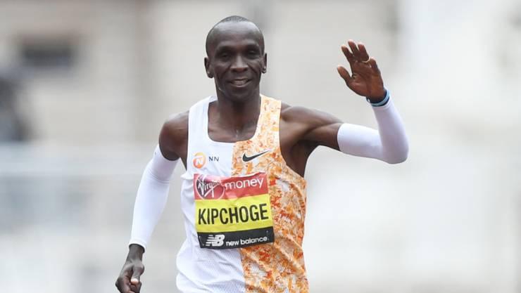 Kann derzeit weder Rennen laufen noch in einer Gruppe trainieren: Marathon-Olympiasieger Elid Kipchoge