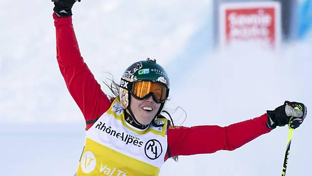 Katrin Müller feierte ihren zweiten Weltcupsieg
