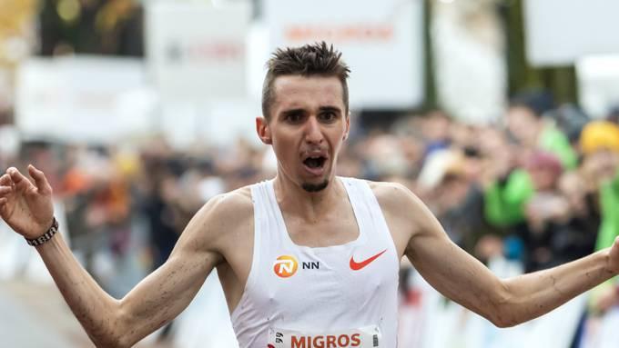 Julien Wanders drückte seinen Europarekord im 10-km-Strassenlauf erneut