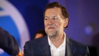 Spaniens Regierungschef Mariano Rajoy während einer Wahlkampfveranstaltung in La Coruña