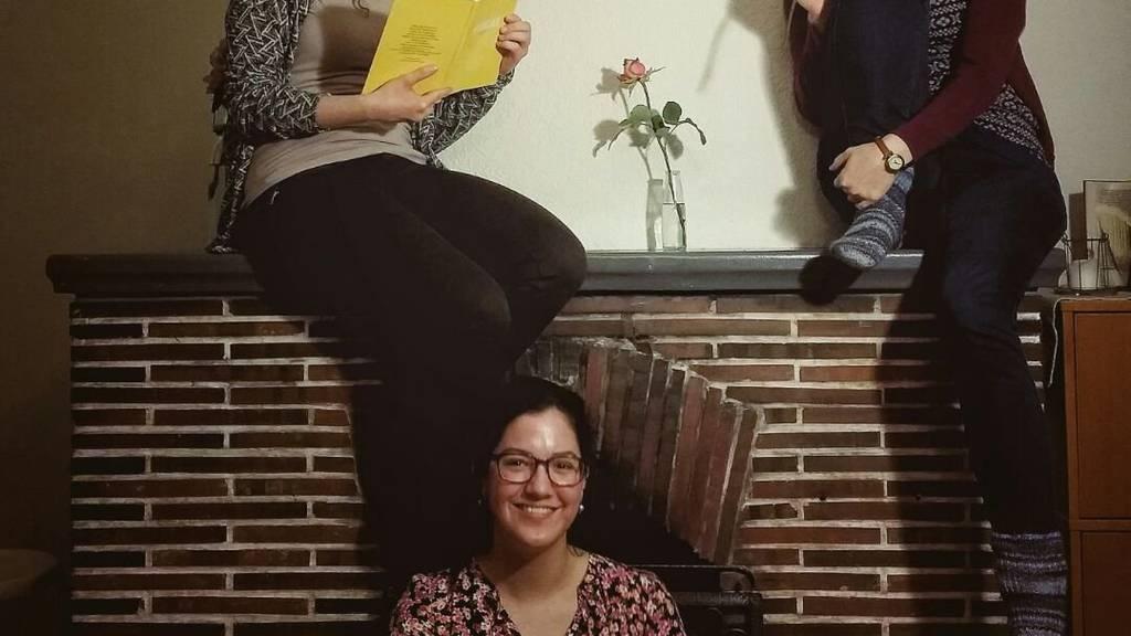 Noemi Locher (rechts) und ihre Mitbewohnerinnen Madleina (links) und Lara (Mitte).