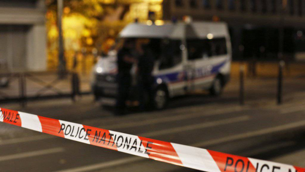 Der Ort des Messerangriffs in Paris.