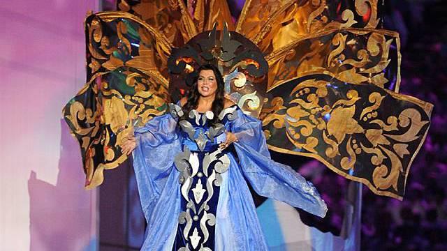Die russische Sopranistin Maria Guleghina singt an der Abschlussfeier der Olympischen Spiele in Vancouver