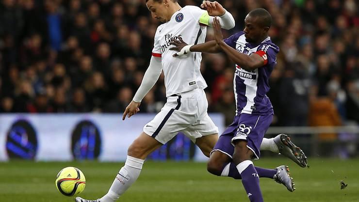 Zlatan Ibrahimovic war in Toulouse für den einzigen Treffer besorgt