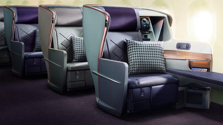 Wer für 19 Stunden Flug doch lieber ein «Bett» hat, bucht die Business Class