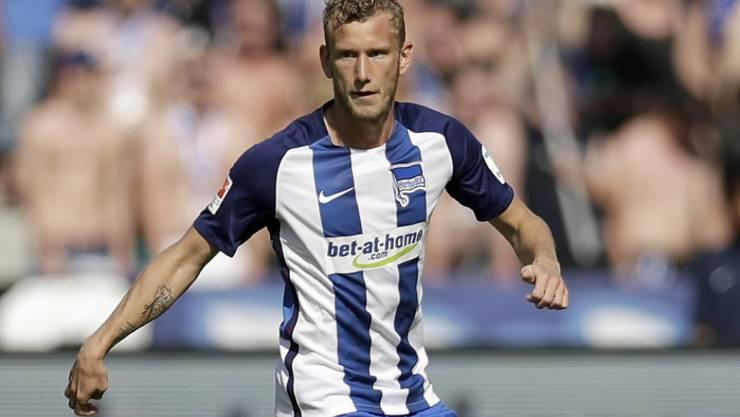 Fabian Lustenberger bestreitet heute Samstag seine letzte Partie für Hertha Berlin