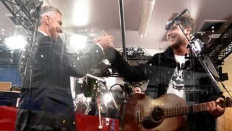Baker und Burkhalter in der JRZ-Glasbox im vergangenen Dezember.