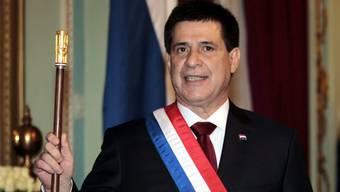 Paraguays Präsident Horacio Cartes bei der Vereidigung